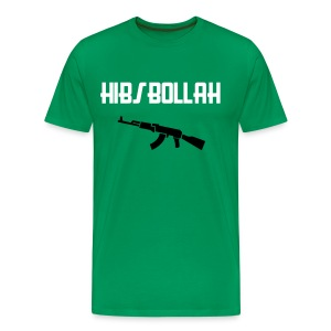 Limited edition (two colour) Hibs-bollah + AK47 - only a couple left.... - Men's Premium T-Shirt