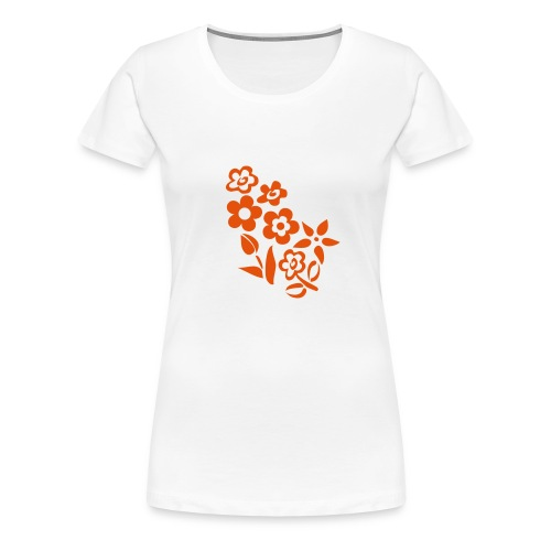 flower_orange - Frauen Premium T-Shirt