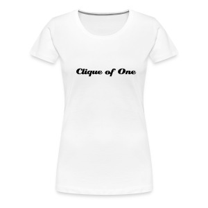 Clique of One - White T-shirt - Women's Premium T-Shirt