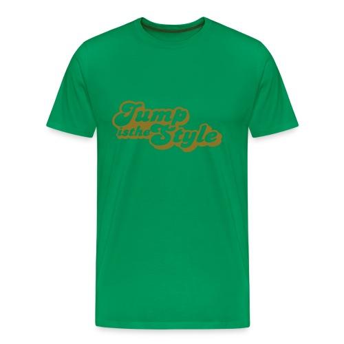 Mannen Premium T-shirt - heren shirt jumpisthestyle goud