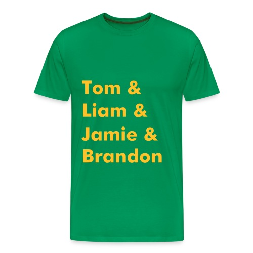 Band Name T-Shirt (Dark Green) - Men's Premium T-Shirt