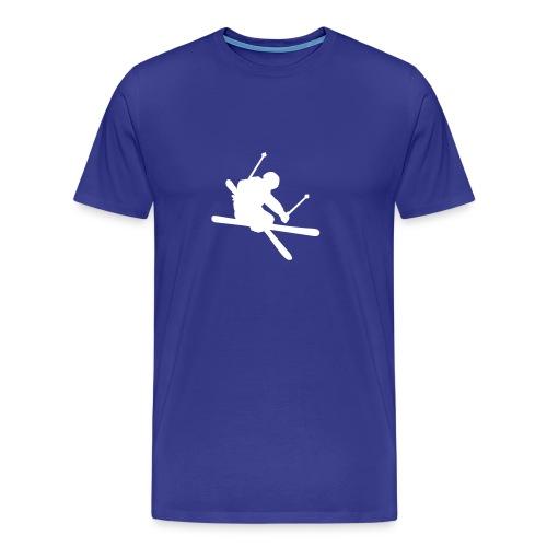 Skier -Blå - Premium-T-shirt herr
