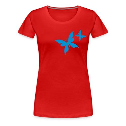 papillons bleus - T-shirt Premium Femme