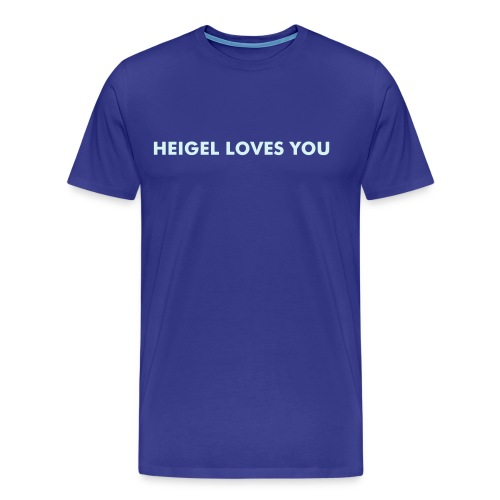 Heigel Loves You Royal Blue - Men's Premium T-Shirt