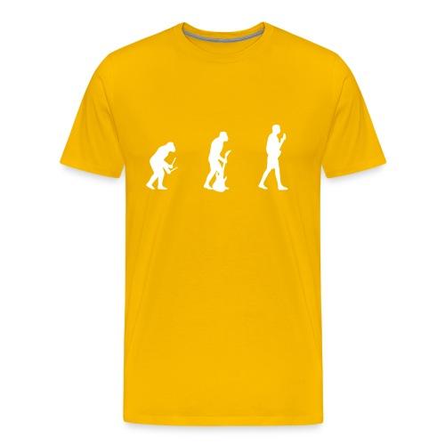 Evolution - Yellow - Men's Premium T-Shirt