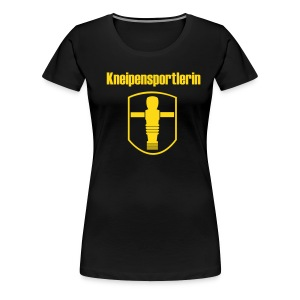 Girlie Kneipensportlerin - Frauen Premium T-Shirt