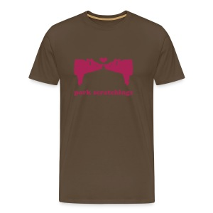 pigs kissing - Men's Premium T-Shirt