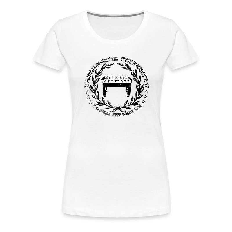 Girlie Tablesoccer University - Frauen Premium T-Shirt