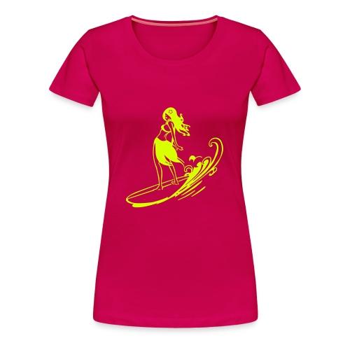 Aloha Surfer Girl - Women's Premium T-Shirt