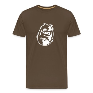 Gorilla w/ glowing eyes - Premium T-skjorte for menn