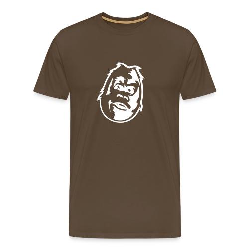 Gorilla w/ glowing eyes - Premium T-skjorte for menn