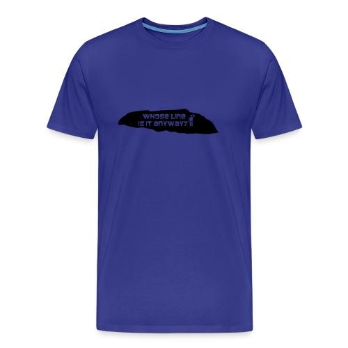 Whose Line Is It Anyway? (Blue) - Men's Premium T-Shirt
