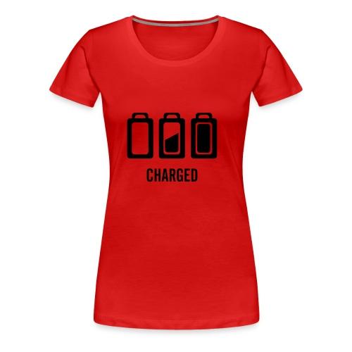 Computer, Charged, schwarz - Frauen Premium T-Shirt