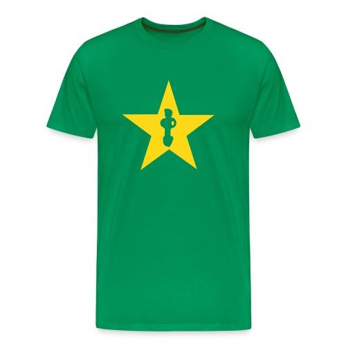 Star edition Retro green - Männer Premium T-Shirt