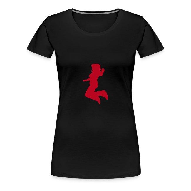 Motive-T-Shirt, Freudensprung