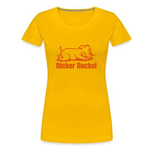 Dicker Dackel - Frauen Premium T-Shirt