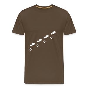 Schritte, braun - Männer Premium T-Shirt