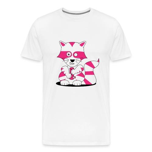racoon - shirt for big ones - Männer Premium T-Shirt