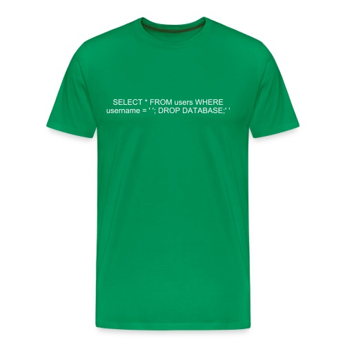 SQL-injection t-shirt - Premium T-skjorte for menn