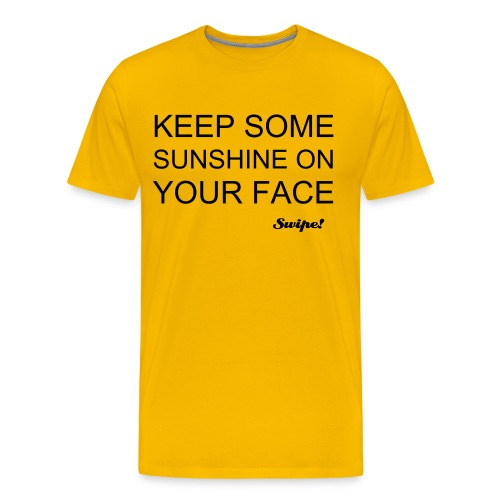 'Keep Some Sunshine' Yellow - Men's Premium T-Shirt