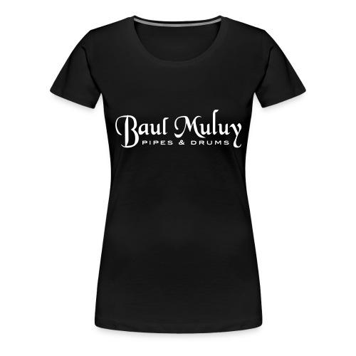 Girlieshirt schwarz / weiß - Frauen Premium T-Shirt