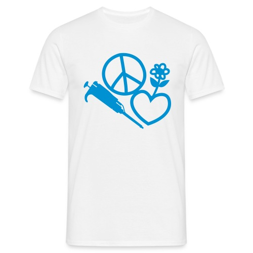Peace, love, pipette - Men's T-Shirt
