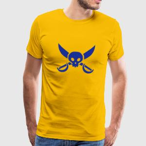 Yellow sword skull T-Shirts - Men's Premium T-Shirt
