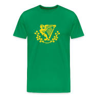 T-Shirts ~ Men's Premium T-Shirt ~ Erin Go bragh - harp only - (You choose the colour of this Item)