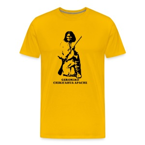 Frank's Realm yellow T-shirt -both sides printed! - Men's Premium T-Shirt