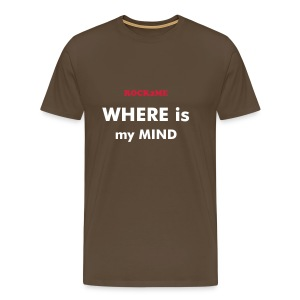 Where is my mind - Marron - T-shirt Premium Homme