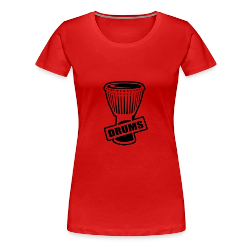 Drums female red and black logo tee - Women's Premium T-Shirt