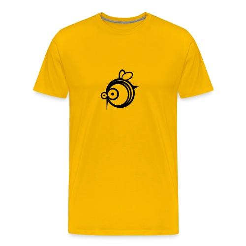 BEE LOGO (YELLOW) - Men's Premium T-Shirt