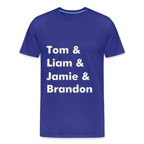 Band Name T-Shirt (Royal Blue) - Men's Premium T-Shirt