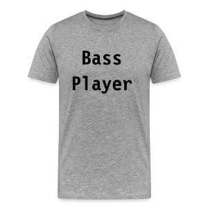 Bass Player (grey) - Men's Premium T-Shirt