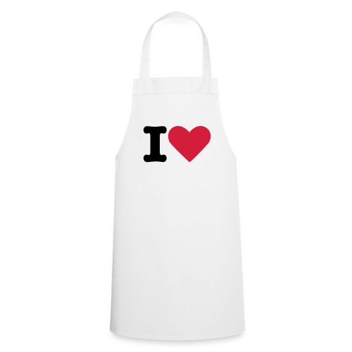 Kochschürze: I LOVE - Kochschürze