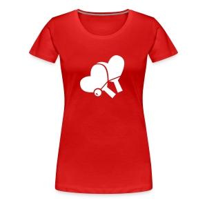 raquette coeur - T-shirt Premium Femme