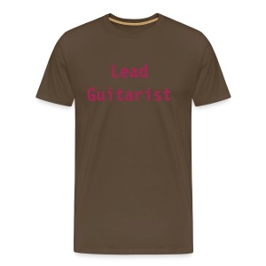 Lead Guitarist (brown) - Men's Premium T-Shirt