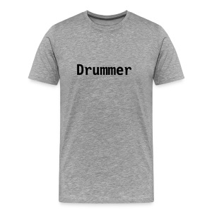 Drummer (grey) - Men's Premium T-Shirt