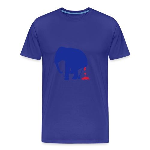 Eléphant Poo - T-shirt Premium Homme