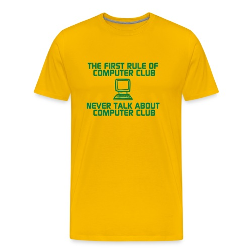 First rule of computer club - Men's Premium T-Shirt