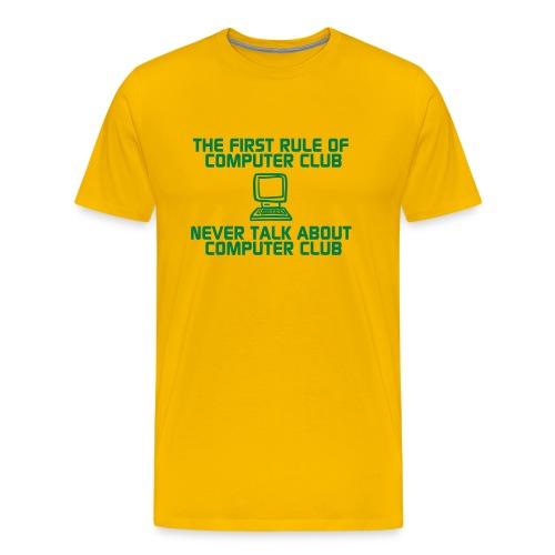 First rule of computer club - Men's Premium T-Shirt