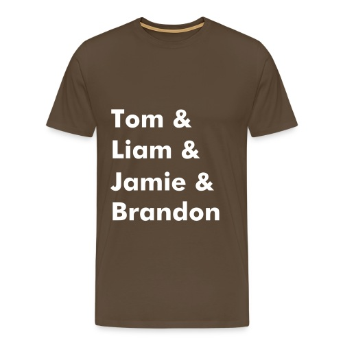Band Name T-Shirt (Brown) - Men's Premium T-Shirt