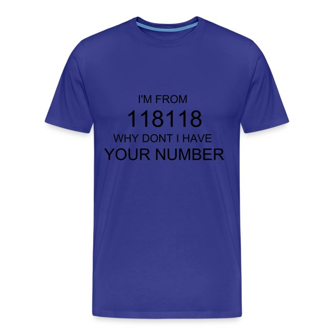 118 got your number t-shirt
