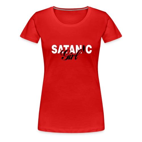 satanic girl - Women's Premium T-Shirt