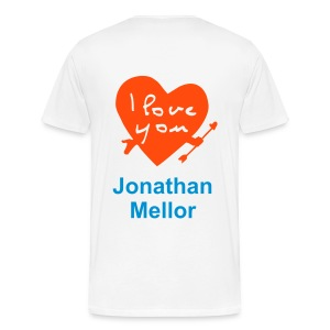 I love you Jonathan Mellor - Men's Premium T-Shirt