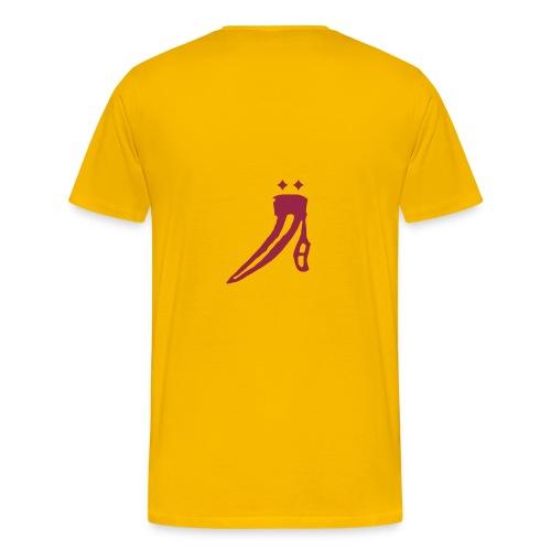 Logo hinten, Name vorn - Männer Premium T-Shirt
