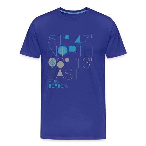 51°47' N 06°13' E - Männer Premium T-Shirt