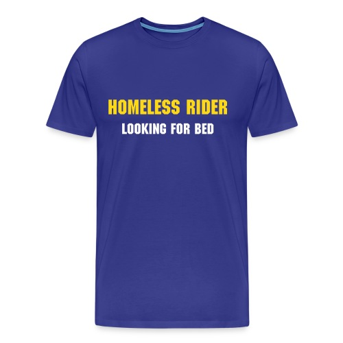 Homeless Rider Blue - Männer Premium T-Shirt