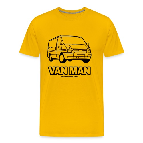 Van Man - Ford Transit / Tourneo T-Shirt - Yellow - Men's Premium T-Shirt