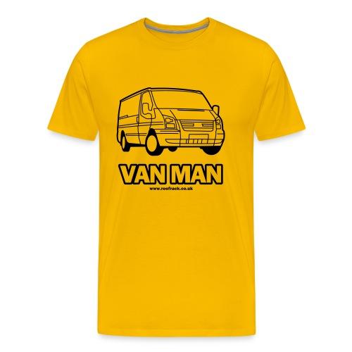 Van Man - Ford Transit / Tourneo T-Shirt - Yellow - Men's Premium T-Shirt